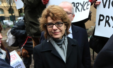 Vicky Pryce arriving for her sentencing hearing.