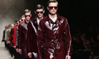 Burberry Prorsum's menswear show at Milan fashion week in January