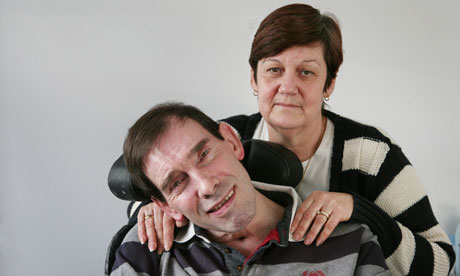 Right to die – Tony Nicklinson, pictured with his wife, Jane
