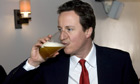 David Cameron visiting the Plough Inn, Witney, Oxfordshire, Britain - 28 Mar 2008