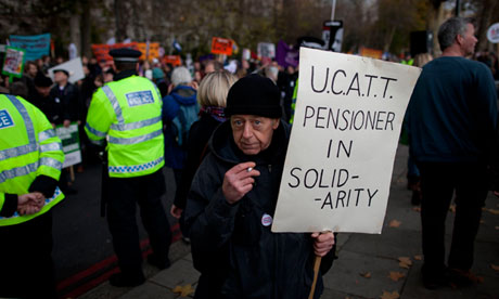 Strike over pensions, London 2011