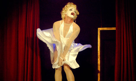 Dickie Beau as Marilyn Monroe in BLACKOUTS, from Homotopia 2012