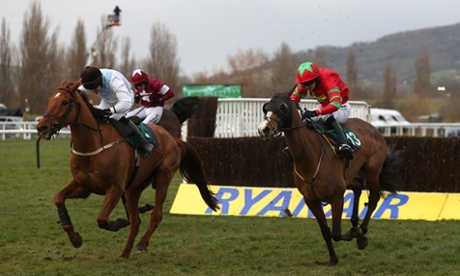 Same Difference ridden by Ryan Hatch (right) win at Cheltenham.