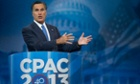 Former Massachusetts governor and 2012 Republican presidential candidate, Mitt Romney speaks at CPAC.