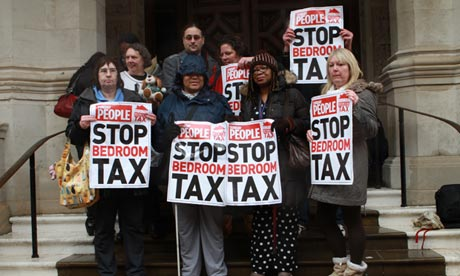 protesters urge government dispense bedroom tax