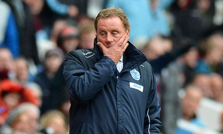 Harry Redknapp feels the pressure as QPR are turned over by Aston Villa