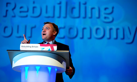 Ed Balls at the October 2012  Labour conference.
