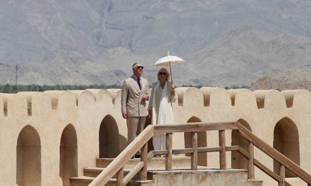 Here are the Royal couple touring the fort.