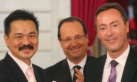 Airbus deal with Lion Air. Fabrice Brégier, Rusdi Kirana, Francois Hollande