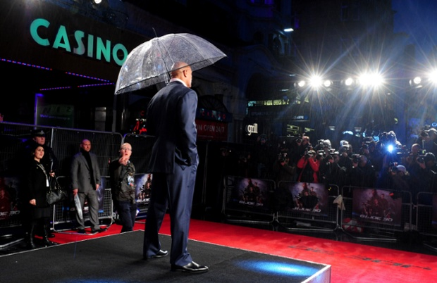 Dwayne 'The Rock' Johnson arrives for the UK premiere of GI Joe: Retaliation at the Empire Cinema in London.
