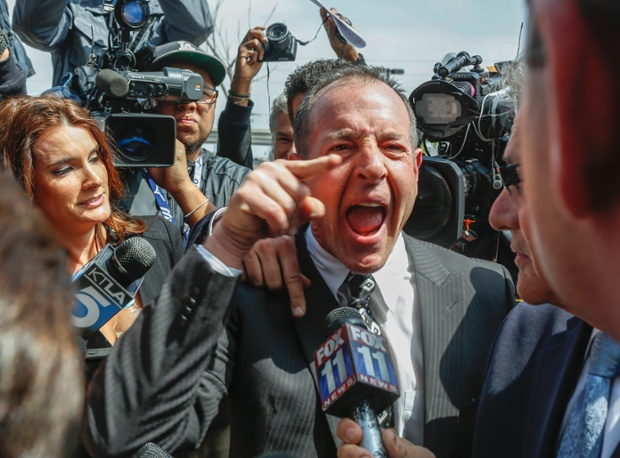 Michael Lohan, father of actress Lindsay Lohan, speaks to the media as he leaves the Los Angeles Superior Court. Lindsay Lohan accepted a plea deal in a misdemeanor car crash case that includes 90 days in a rehabilitation facility.
