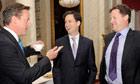 Clegg, Cameron, Miliband
