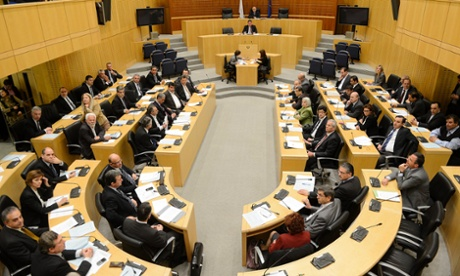 A general view showing the Cyprus parliament session in Nicosia, Cyprus, 19 March 2013.