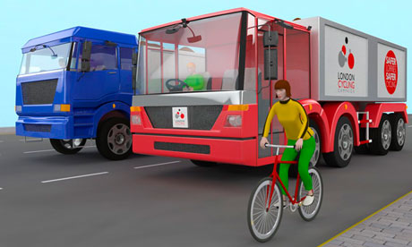 A computer-generated image of the LCC lorry design