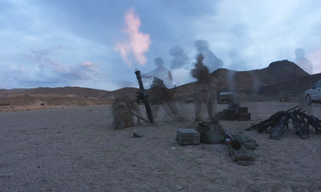 Mortar training at Hawthorne army depot in Nevada, where seven marines have died