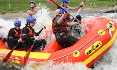 White-water rafting, National Water Sports Centre, Holme Pierrepoint