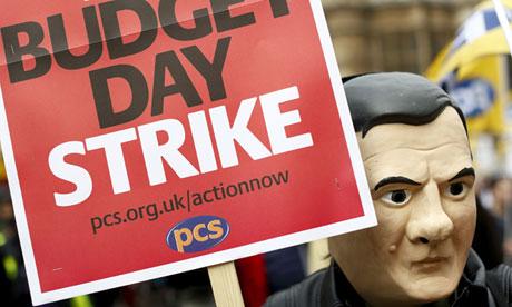 Public servants protest in central London