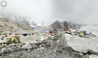 Nice view: Everest base camp as seen on Google Streetview.