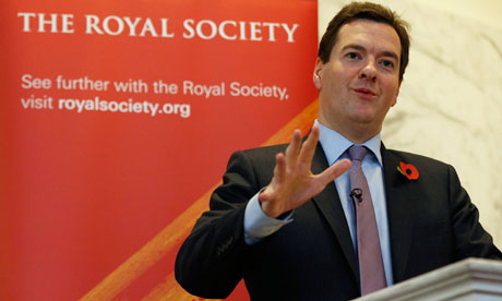 George Osborne speaking at the Royal Society last November