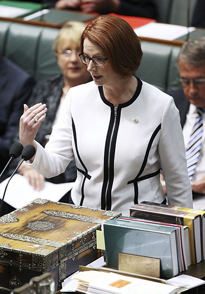 gillard: 'Take your best shot.' Julia Gillard tackled Crean's ultimatum head-on