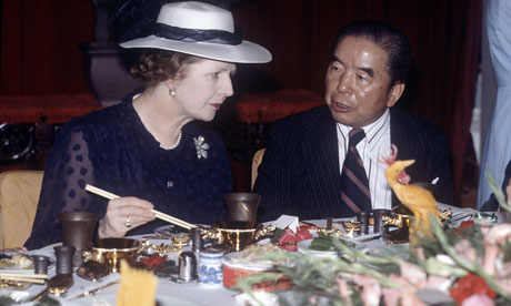 Margaret Thatcher in China - 1982