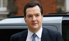 George Osborne arrives at Millbank broadcast studios