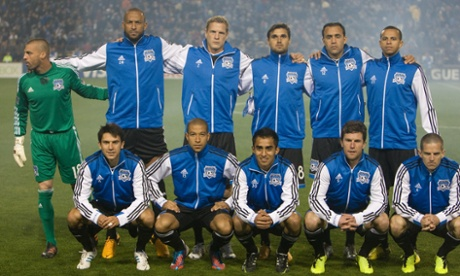 San Jose Earthquakes team line up