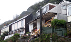 Looe house collapse