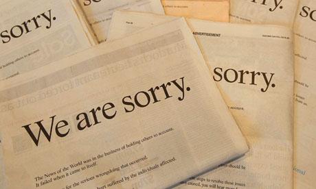 Rupert Murdoch apology on behalf of News Corporation