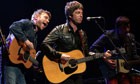 Damon Albarn, Noel Gallagher and Graham Coxon
