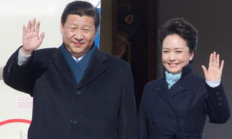 Xi Jinping with Wife Peng Liyuan