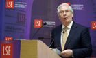 Mervyn King LSE debate