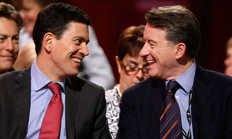 David Miliband and Peter Mandelson