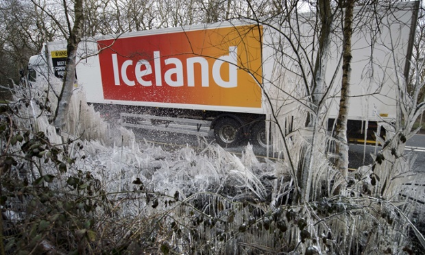 What's the weather like outside? No. 4. Hazeley Bottom, England it's min -2. Adrian must have frozen his socks off waiting for this particular supermarket lorry to pass by. Good job! Photograph: Adrian Dennis/AFP/Getty Images