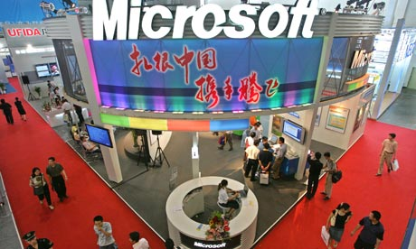 Microsoft booth at the International Software China in Beijing.