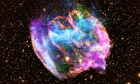 A month in space: the W49B supernova