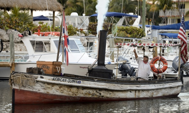 Charlie Allnut: 'A man takes a drop too much once in a while, it's only human nature.' Rose Sayer: 'Nature, Mr. Allnut, is what we are put in this world to rise above.' Relive your Bogart and Hepburn moments on the original African Queen in Key Largo, Florida, USA. The boat was built in England in 1912 and then used in the famous 1951 movie 'The African Queen'. The steam-operated boat has been completely restored and takes film buffs and tourists on area cruises.
