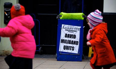 David Miliband local paper