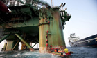 Greenpeace activists climb oil rig
