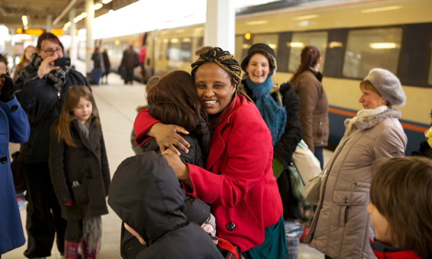 Odette Sefuko arriving in Sheffield last night after being released on bail. Photograph: Joe Bream