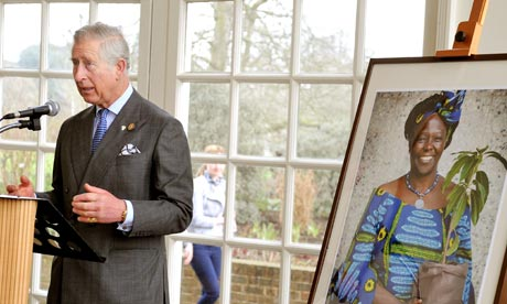 Prince Charles makes a speech about the late Wangari Maathai at Kew Gardens