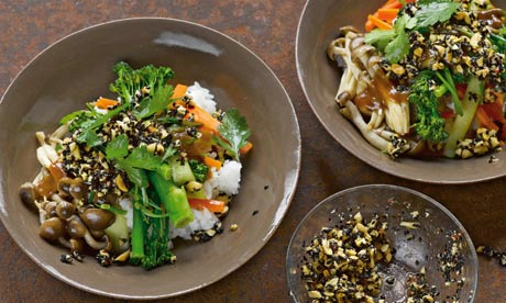 Yotam Ottolenghi recipes: miso veg and rice with black sesame dressing ...