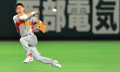 China infielder baseball