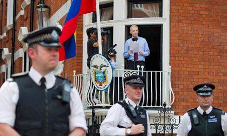 Julian Assange Ecuador embassy