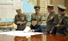 North Korea Kim Jong-un at a meeting with military leaders