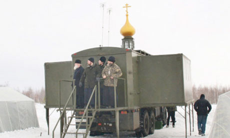 Church-in-a-box … A Russian military Orthodox chapel