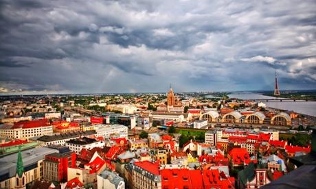 Cityscape of Riga, Latvia
