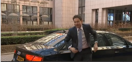 Jeroen Dijsselbloem, arriving at eurogroup meeting
