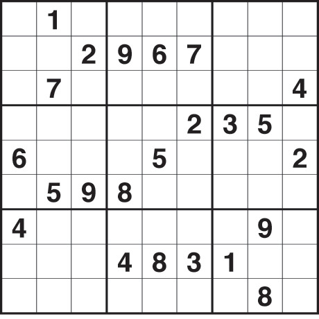 Printable Sudoku Puzzles 4 per Page