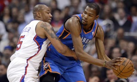 Kevin Durant, OKC Thunder vs Caron Butler, LA Clippers